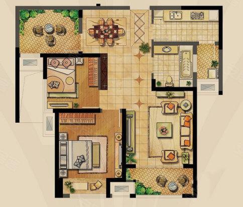 85平米的房子 相貌 差别有多大 3大同面积户型精彩pk