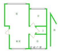 《京广巨海店》精装  包暖 包物业 月租金2400元