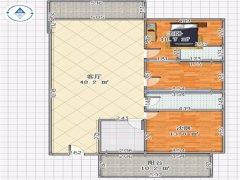 颐和山庄大三房出租,大阳台,大客厅,就是大