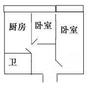 秋林龙江大厦邮政街龙江街交口,36平2室1厅精装修2000月
