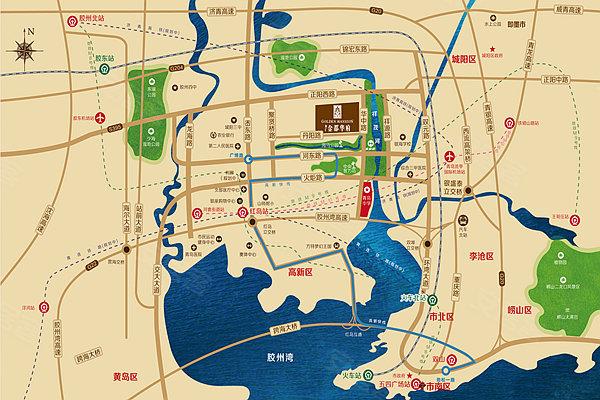 青岛机场离市区多远